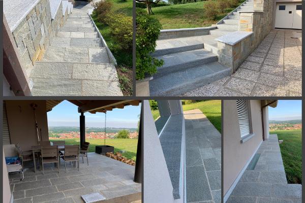 Graniti Cusio - Pavimentazione e complementi in Luserna: per esterni di pregio